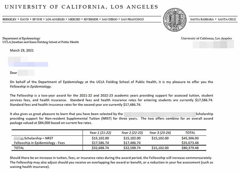 미국박사과정 역학 UCLA Epidemiology