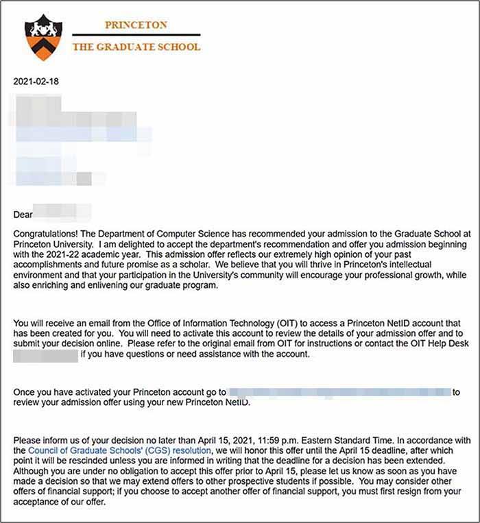 미국박사과정 Princeton University Computer Science